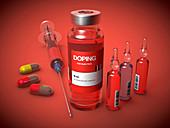 Doping, conceptual illustration