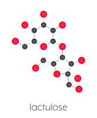 Lactulose chronic constipation drug, molecular model