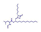 Orlistat obesity drug, molecular model