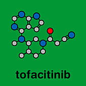 Tofacitinib rheumatoid arthritis drug, molecular model