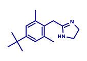 Xylometazoline nasal decongestant, molecular model