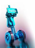 Robotic assistant, illustration