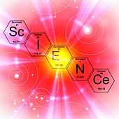 Chemical elements science, illustration