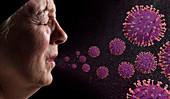 Coronavirus spread, conceptual image