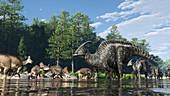 Dinosaur Park Formation fauna, illustration