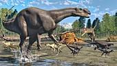 Cretaceous Australian fauna, illustration