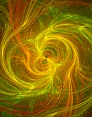 Quantum entanglement abstract.