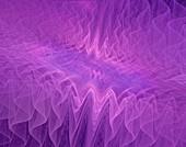 Fractal waveforms abstract illustration.