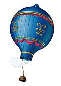 Montgolfier unmanned hot air balloon flight, 1783
