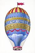 Adorne's hot air balloon, 1784