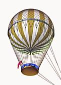Coutelle's military balloon L'Entreprenant, 1790s