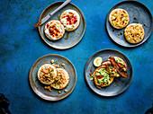 Four crumpet varieties