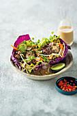 Asian chicken liver salad