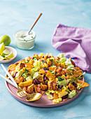 Hähnchen-Taco-Salat mit Mais
