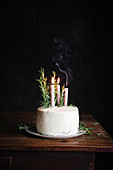 Gingerbread Layer Cake Topped with Rosemary