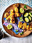 Fisch Tikka mit Knoblauch, Kurkuma und Limette (Indien)