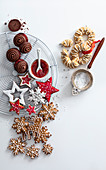 An arrangement of various Christmas biscuits