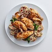 Roast turkey with ricotta and artichoke stuffing