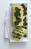 Romanesco terrine with kale chips