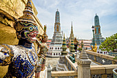 A caryatid on the Golden Chedi, Grand Palace, Rattanakosin, Bangkok, Thailand