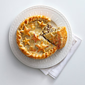 Artichoke and sausage pie