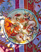 Seafood salad with fennel and grapefruit