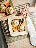 Sheng Jian Bao (gebratene Suppenklösschen, China)