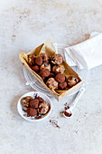 Baked apple energy balls and mocha balls