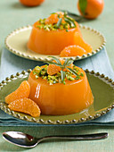 Mandarin jelly with pistachios