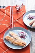 Gebratener Lachs mit Radieschen japanische Art