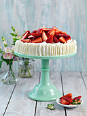 Strawerry cake with whipped cream