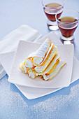 Biscuit rolls with ricotta cream