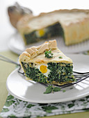 Torta pasqualina (green vegetable pie with egg, Italy)