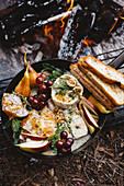 Campfire Brie Fondue in a Box