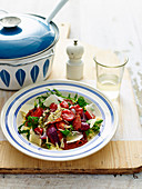 Salami and Tomato Risoni Salad