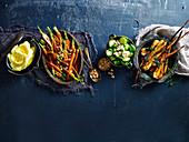 Paris Mash, Mashed potato, Orange and maple glazed baby carrots, Brussels sprouts, Roasted Caramelised Parsnips with sage