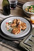 Dukkah-Lammkoteletts mit Weizensalat
