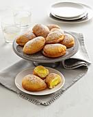 Lemon cream crescents