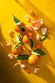 Mandarins with leaves