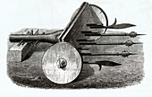 Organ gun, illustration