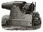 Giant gun, illustration