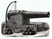 Navy gun, illustration