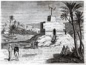 Telegraph of Claude Chappe, illustration