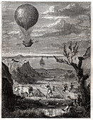 Flight of Jean Pierre Blanchard, illustration