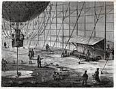 Henri Giffard's balloon, illustration