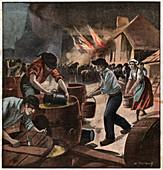 Fire in Bretagne, illustration