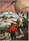 Russian arctic expedition, illustration