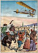 Rene Bregi above Morocco, illustration