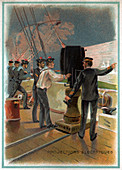 Electric lighting in the navy, illustration