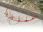 Future Circular Collider, schematic illustration